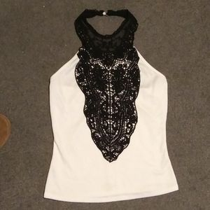 Tops - Lace bib top